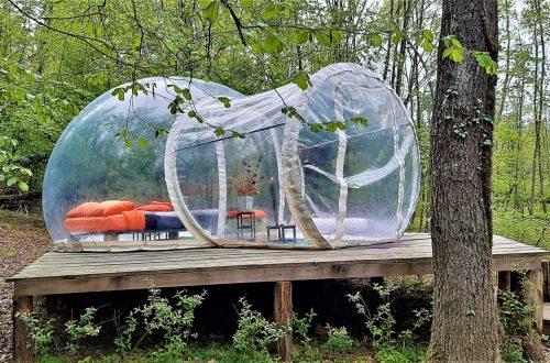 La bolla di Future is Nature Playground a Sala Biellese