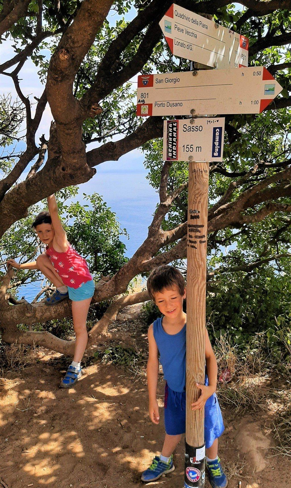 Punta Sasso a Manerba con i bambini